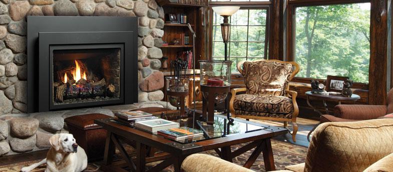 Remplacer votre foyer au bois existant par un foyer au gaz for Foyer interieur bois